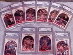1989-90 Hoops Bulls Team Set Graded Gem PGA 10. Michael Jord
