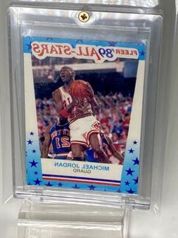 1989-90 Fleer Stickers MICHAEL JORDAN card, CHICAGO BULLS, w