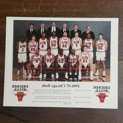 1996-97 Chicago Bulls Team 8x10 NBA Champions Jordan Pippen