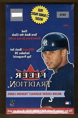 2001 FLEER TRADITION MLB BASEBALL FACTORY SEALED RETAIL BOX
