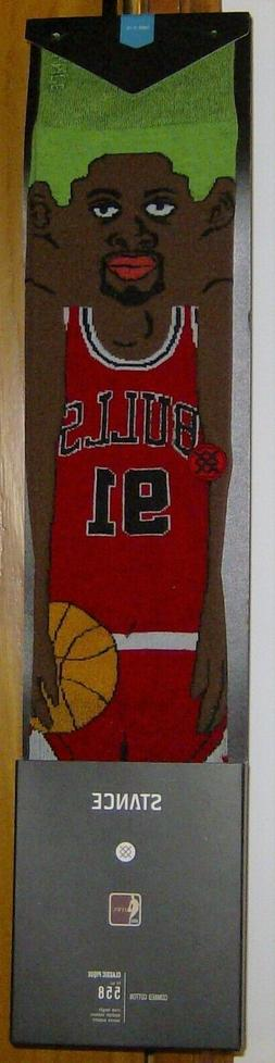 2012 STANCE DENNIS RODMAN CARTOON SOCKS NEW W TAGS SIZE L  C