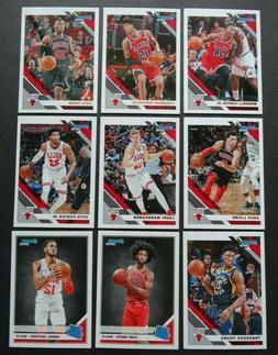 2019-20 Panini Donruss Chicago Bulls Base Team Set of 9 Bask
