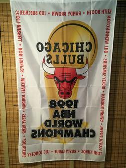 3'x5' Chicago Bulls 1998 NBA Championship banner/flag -