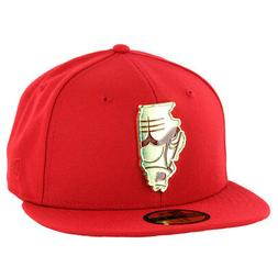 """New Era 59Fifty Chicago Bulls """"Gold Stated"""" Fitted Hat  Men'"""
