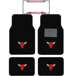 5pc NBA Chicago Bulls Car Truck Floor Mats & License Plate F