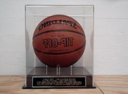 Basketball Display Case With A Dennis Rodman Chicago Bulls E