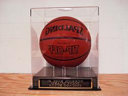 Basketball Display Case For A Derrick Rose Chicago Bulls Aut