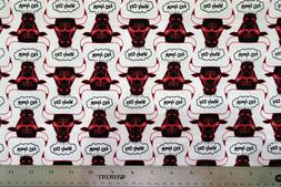 Brand New NBA Windy City Chicago Bulls 100% Cotton Fabric 1/