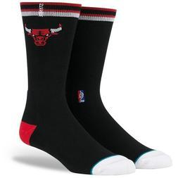 Stance Unisex Bulls Arena Logo Black Socks LG
