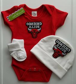 bulls infant baby 3pc outfit bulls baby