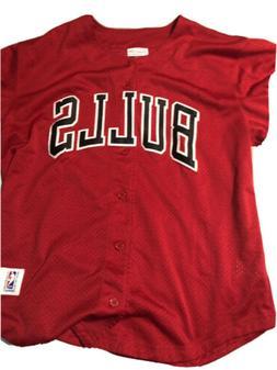 bulls xl Vintage Baseball Style Jersey
