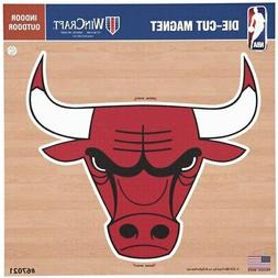 chicago bulls 12 x 12 car magnet