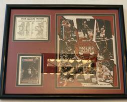 Chicago Bulls 1995-96 World Champion Framed Picture With Ros