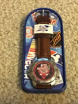 CHICAGO BULLS 1998 NBA CHAMPIONS WATCH BRAND NEW RED&BLK FAC