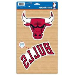 CHICAGO BULLS 2 PACK OF VINYL DIE-CUT MAGNETS HIGH QUALITY H