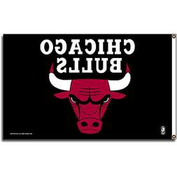 Chicago Bulls 3x5 NBA Banner Flag with grommets for hanging