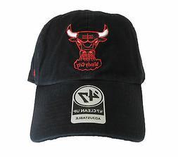 Chicago Bulls 47 Brand Strapback Adjustable Black Cap Hat Cl