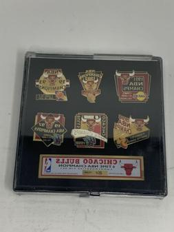 Chicago Bulls. 6 Time NBA Champions. Set Of 6 Pins. Sealed,