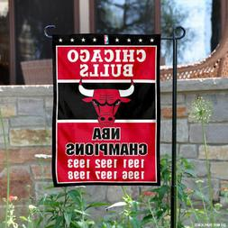 WinCraft Chicago Bulls 6 Time NBA Champions Double Sided Gar
