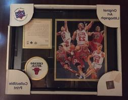 Chicago Bulls 95-96' Record Breaking 72-10 Team Lithograph 1