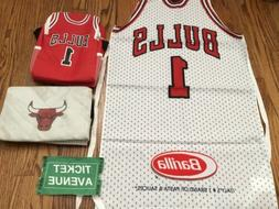 Chicago Bulls Basketball Cooler Lunch Box And Kitchen Apron