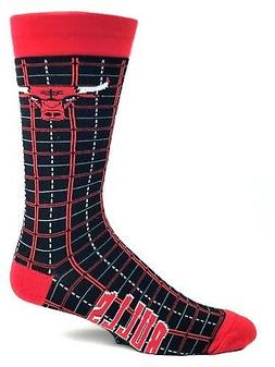 Chicago Bulls Basketball Red & Black Plaid Deuce Crew Socks