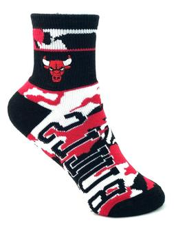 Chicago Bulls Basketball NBA Red Black and White Camo Youth