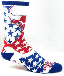 Chicago Bulls Basketball Red White Blue Patriotic Crew Socks