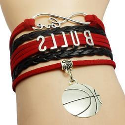 CHICAGO BULLS BASKETBALL TEAM BRACELET, NBA Bracelet