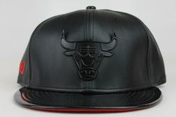 Chicago Bulls Black Metal Faux Patent Leather Red New Era 9F