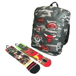NBA Chicago Bulls Camo Grey Sport Backpack & Stance Dennis R