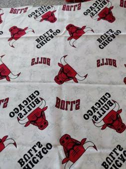 """Chicago Bulls Cotton Fabric  13"""" x 14"""" inches, Read descript"""