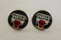 Chicago Bulls Cufflinks made from Basketball Trading Cards U