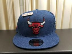 Chicago Bulls Denim 9Fifty New Era Snapback Hat 2018 Draft S
