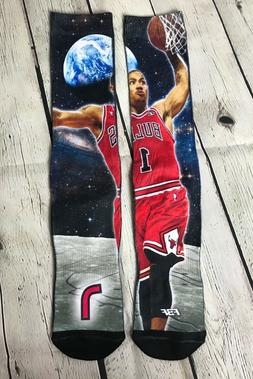 FBF Originals Chicago Bulls Derrick Rose Socks Boys Youth Ba