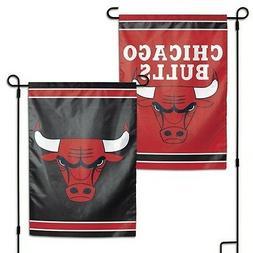"CHICAGO BULLS DOUBLE SIDED GARDEN FLAG 12""X18"" YARD BANNER O"