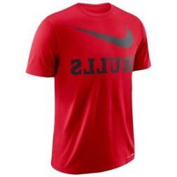 Nike Chicago Bulls Dry Swoosh Red Men's Short Sleeve T-shirt