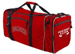 Chicago Bulls Duffel Bag Premium Team Color Heavy Duty Steal