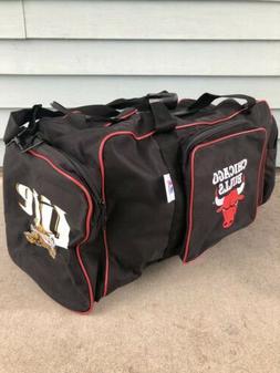 Chicago Bulls Duffle Gym Bag Miller Lite Black Red Large
