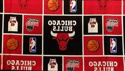 "Chicago Bulls Fabric Cotton 5"" x 40"" Remnant"