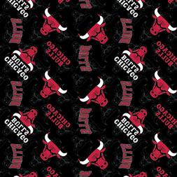 Chicago Bulls Fabric Cotton Fabric Digital Printed Fabric By