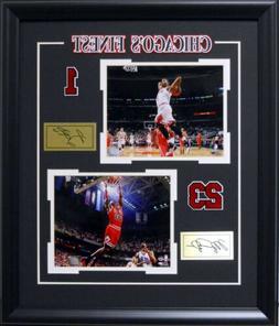 Chicago Bulls Finest Derrick Rose Michael Jordan Deluxe Fram