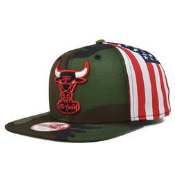 Chicago Bulls FLAG SIDE Camo SNAPBACK 9Fifty New Era NBA Hat