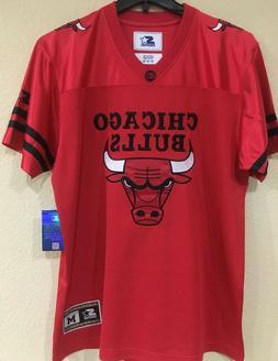Chicago BULLS Football Men's Jersey by STARTER - Red Color J