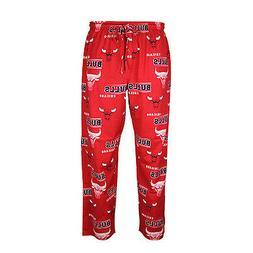 Chicago Bulls Fusion Printed Red Logo Knit Pajama Pants NBA