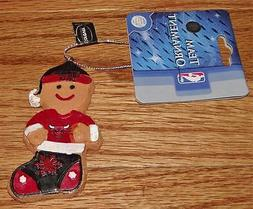 Chicago Bulls Gingerbread Man NBA Christmas Ornament Forever