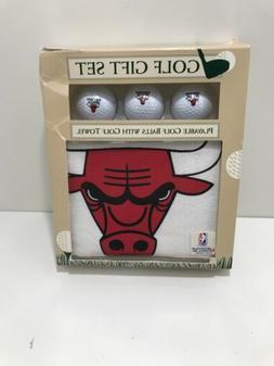 Chicago Bulls Golf Gift Set 3 Golf Balls Golf Towel NBA McAr