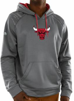 Chicago Bulls Grey Armor Pullover Synthetic Majestic Hoodie