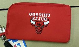 Chicago Bulls ID Wallet Wristlet Cell Phone Case Charm 14 Pu