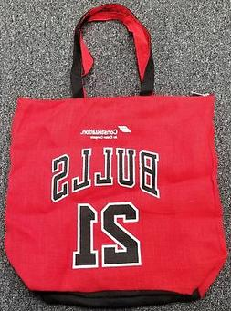 """CHICAGO BULLS JIMMY BUTLER TOTE BAG 18"""" X 15"""" WITH ZIPPER SG"""